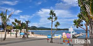 恩納村近くのビーチ
